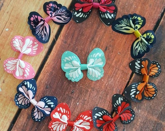 Baby Girl Hair Clips-Baby Hair Clips-Butterfly Hair Clips-Toddler Hair Clips-Woodland-Spring-Hair Accessories-Baby Accessories