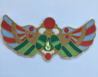 Scarab Iron On Patch