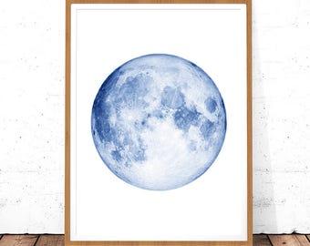 Moon Wall Art, Nordic Prints, Moon Print Digital Download, Modern Print, Large Moon Poster, Planet Prints, Large Minimalist Art, Moon Phase