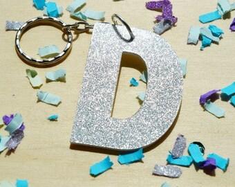Glitter Letter Keyring