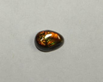 fire agate 10x7mm 2.56cts