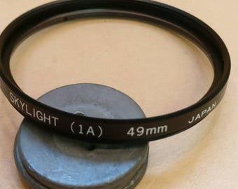 SUN 49mm Skylight 1A filter, Made in Japan