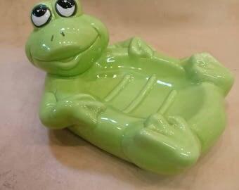 Vintage Frog Soap Dish, 1991