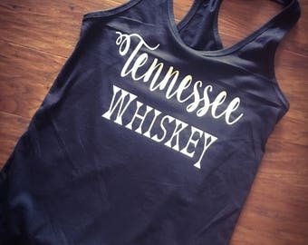 Tennessee Whiskey black tank | womens racerback style tank top
