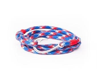 BiggDesignAnemoSS Fishing Hook Men's Bracelet