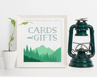Mountain Wedding Cards and Gifts Sign, Mountains Cards and Gifts Sign, Mountains Gifts & Cards Sign, Cards Sign Wedding, Mountain Decor