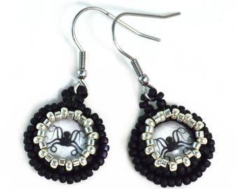 Silver Octopus Earrings - Surgical Steel Hooks - Octopus Earrings - Free US Shipping