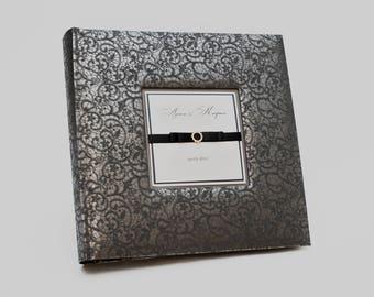 Black album, Black photo album, Black album, Large photo album, Personalized Black album, large wedding album, album black pages