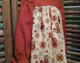 Girls dress. Little girls dress, Toddler dress, Girls dress with owls, Size 2, Boho girls dress, Girls fall dress, Girls long sleeves,  #86