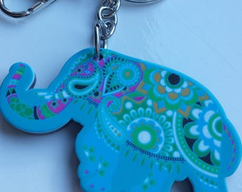Indian themed elephant keychain
