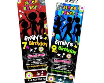 disco dance party invitation