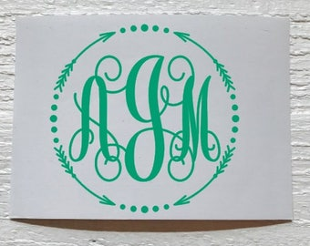 Arrow Monogram Decal - Yeti Decal/ Yeti Monogram Decal/ Car Decal/ Phone/ Laptop