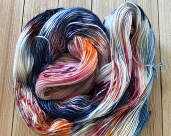 Hand dyed yarn Sock weight 436 yards