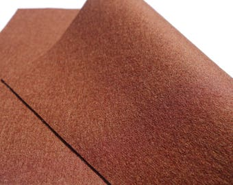 "100% Wool Felt Sheet in Color CONKER - 18"" X 18"" Wool Felt Sheet - Merino Wool Felt - European Wool Felt"