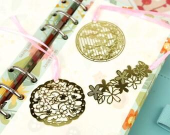 Beautiful Sakura/Cherry Blossom Brass Bookmark
