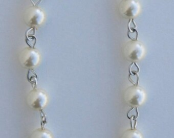 Silver Chain Pearl Anklet