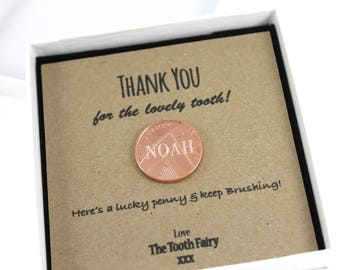 Personalised Tooth Fairy Lucky Penny Wishing Coin Keepsake Gift, Lucky Penny Gift, Fairy Coin, Wishing Coin.