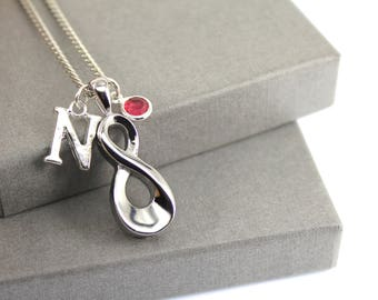 Infinity Initial Memorial Cremation Urn Necklace, Memorial Jewellery,  Cremation Jewelry, Urn Necklace, Cremation Necklace