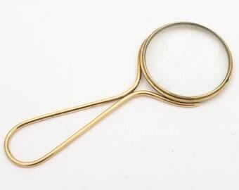 Brass Magnifying Glass, Circa 1920
