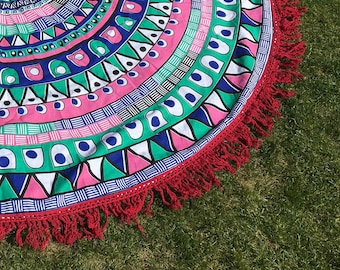 Boho Roundie  - Beach and Picnic Blanket