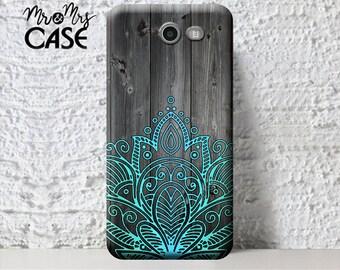Samsung J3 Wood&blue mandala case-Galaxy J7 V 2017-Samsung S6 Active-Grand Prime-Samsung J3-case for Galaxy J5-Samsung A5-case for s7 edge