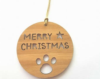 Pet-Dog-Cat-Wood Christmas Decoration-Paw-Ornament-christmas tree-gift-christmas gift-wooden-kris kringle