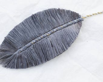 Shiny Heron: Feather textile jewelry, jewelry bags, accessories, decoration...