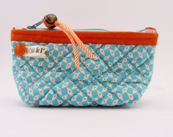 Purse quilted large format, sky blue