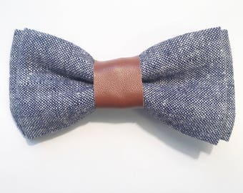 Bentley Bow tie|Chambray bow tie
