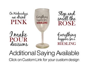 Wine Glass Stickers Etsy - Custom vinyl decals for wine glasses