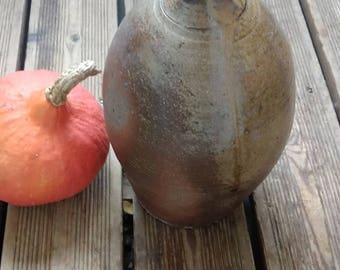 Glazed terracotta bottle - Made in France - Vintage -