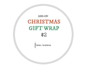 Christmas Gift Wrap Add-On for FromMOMO customers