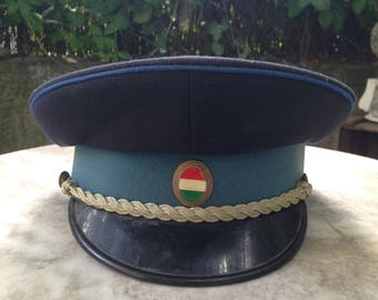 Vintage Hungarian Police officer's  hat. Collectables/Uniforms/East European police/Vintage hats/Communist era/Army Officer.
