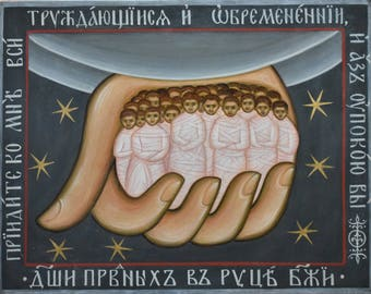 In stock! Souls of the righteous in the hand of God, Orthodox icon