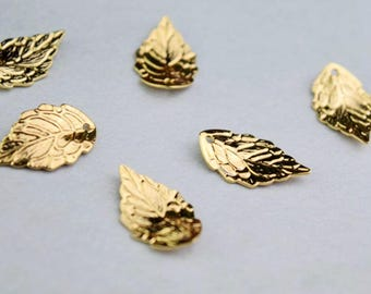 5 of 14k gf leaf charm pendant 18x10mm XD1