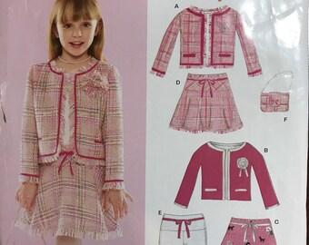Simlicity NewLook uncut girls suit pattern