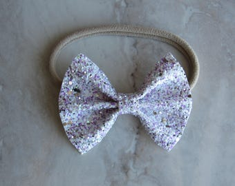 Hugs and kisses sparkly bow