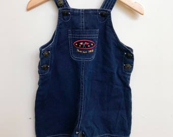 Baby Retro Dungaree Navy