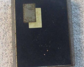 Vintage Bourjois Small Art Deco Powder Compact with Mirror