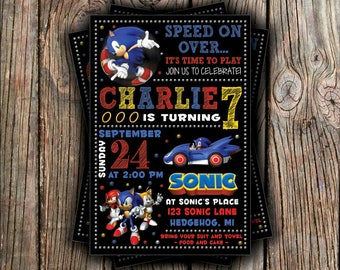 Sonic Birthday Invitation
