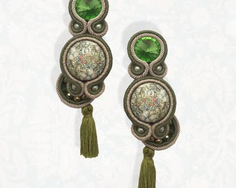 Orecchini Soutache, Soutache Earrings, Soutache Jewelry, Handmade Earrings