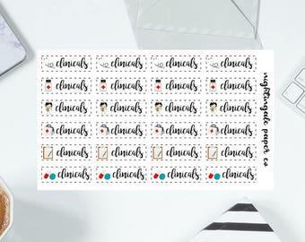 Nursing Student Clinicals Planner Stickers