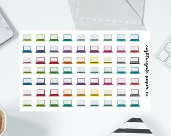 Multicolor Rainbow Laptop Planner Stickers
