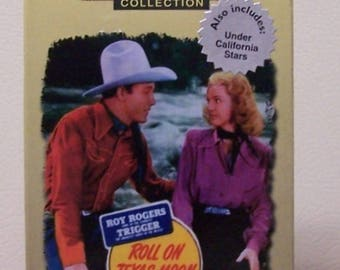 Roll on Texas moon Roy Rogers BW VHS