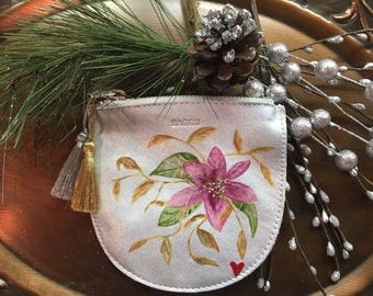 Leather Hand Painted Coin Pouch