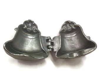 Vintage Pewter Ice Cream Mold, Vintage Bell Mold, Libery Bell Mold, Eppelsheimer 605, Pewter Mold, Vintage Kitchen, Industrial Decor