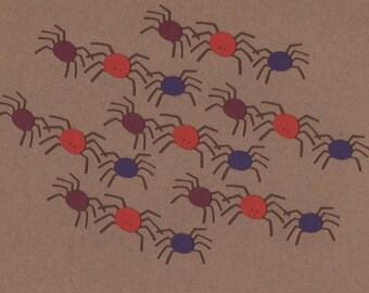 7 Spider Die Cuts Halloween Embellishments Set 7