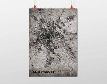 WARSAW-Din a4/DIN A3-print-old-school