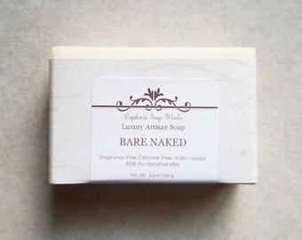 Bare Naked Unscented Coconut Castile Soap