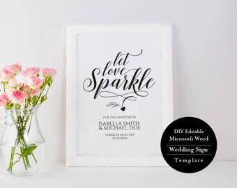 Sparkler Send Off Wedding Sign, Sparkler Send Off Sign, Printable Sparkler Send Off Sign, Sparkler Send Off Sign Instant Download, MSW34